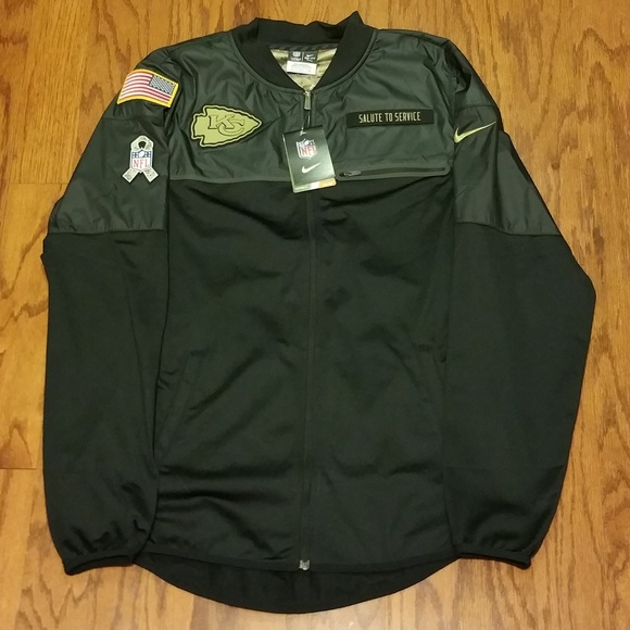 on sale 853f9 22632 Nike Dri Fit KC Chiefs Salute to Service Jacket